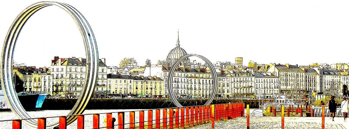 Les anneaux du quai des Antilles à Nantes